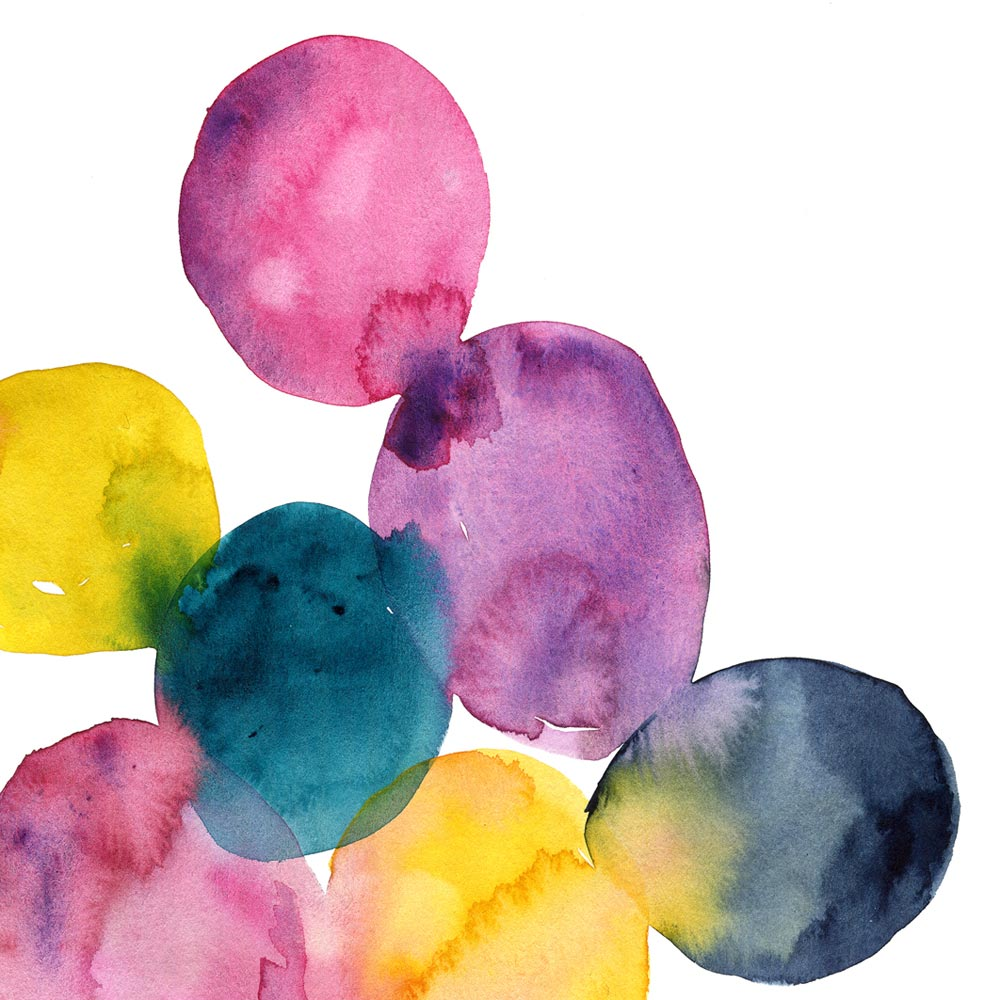 Printable Watercolor dots detail