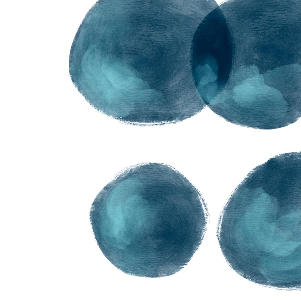 Navy blue modern printable art detail