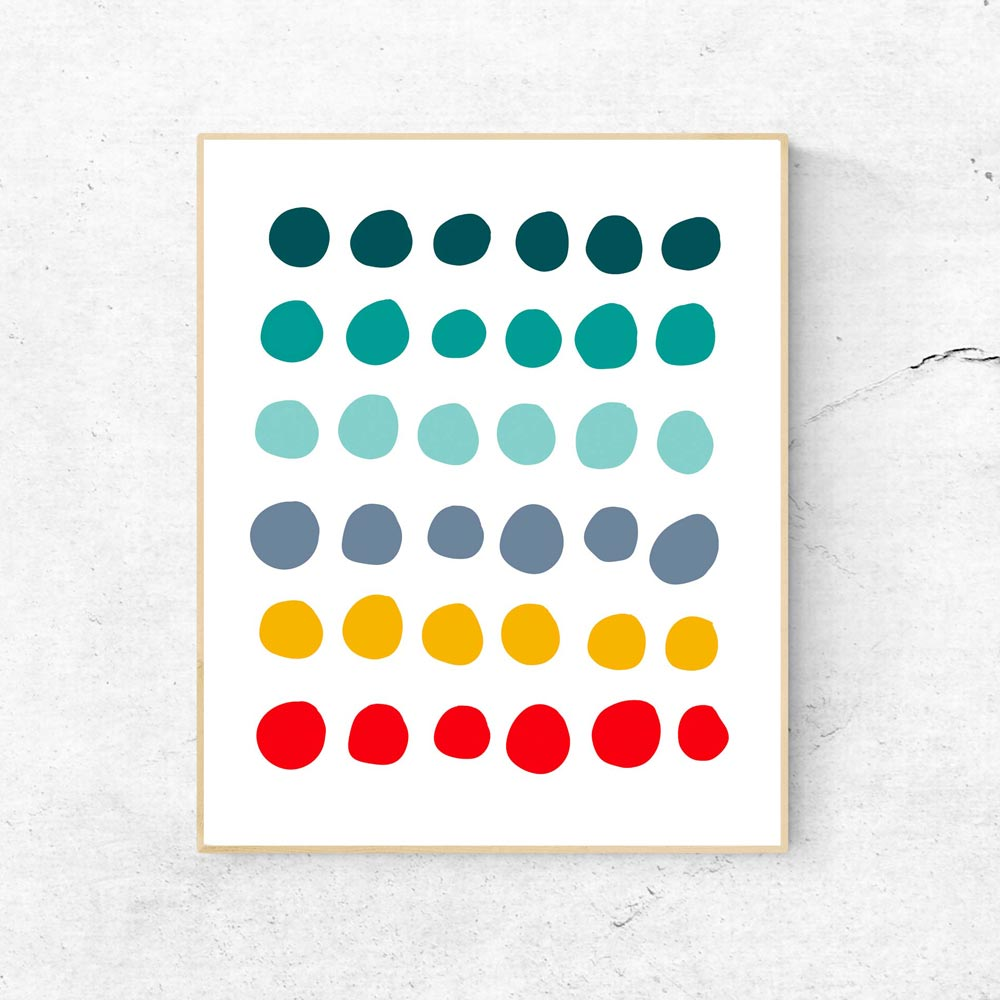 Dots wall art