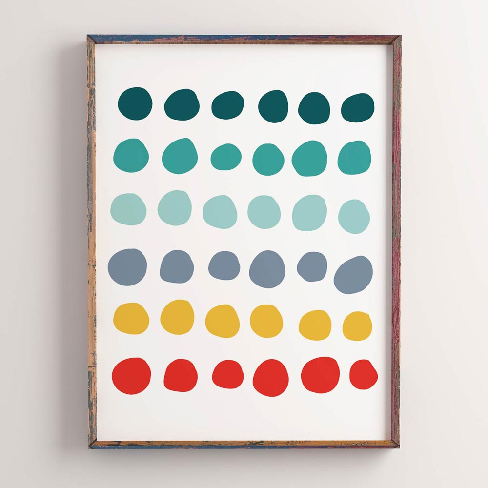 Dots wall art printable