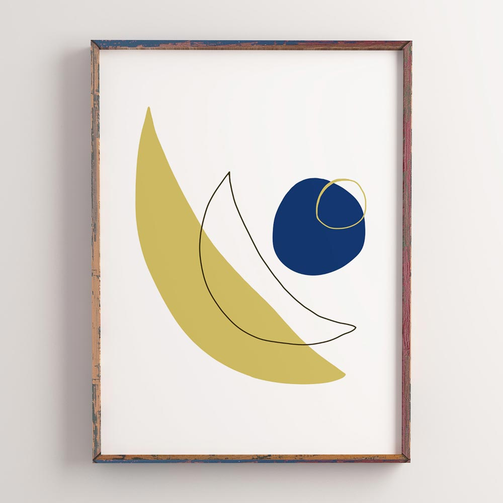 Modern moon abstract wall art decor