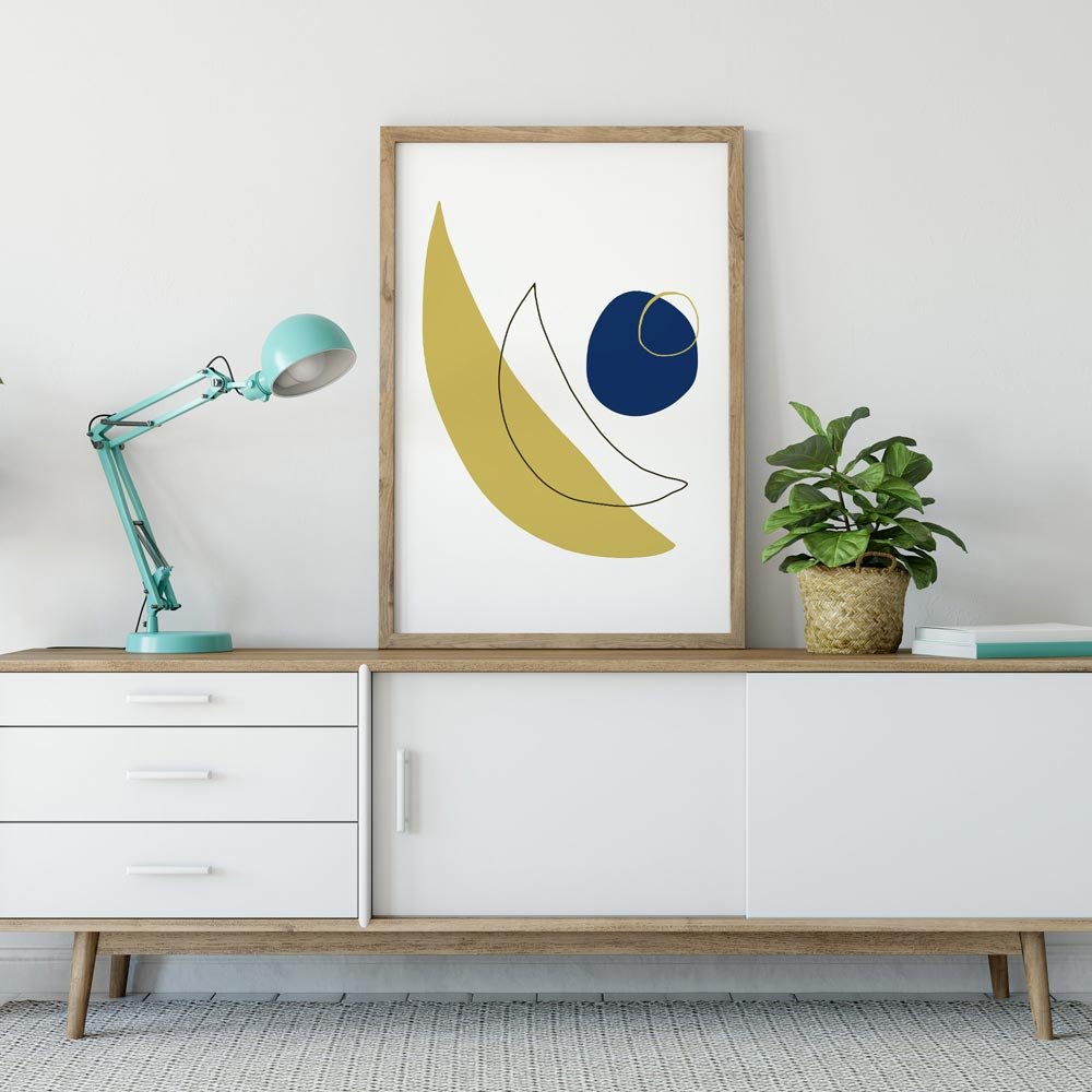 Modern moon abstract wall art