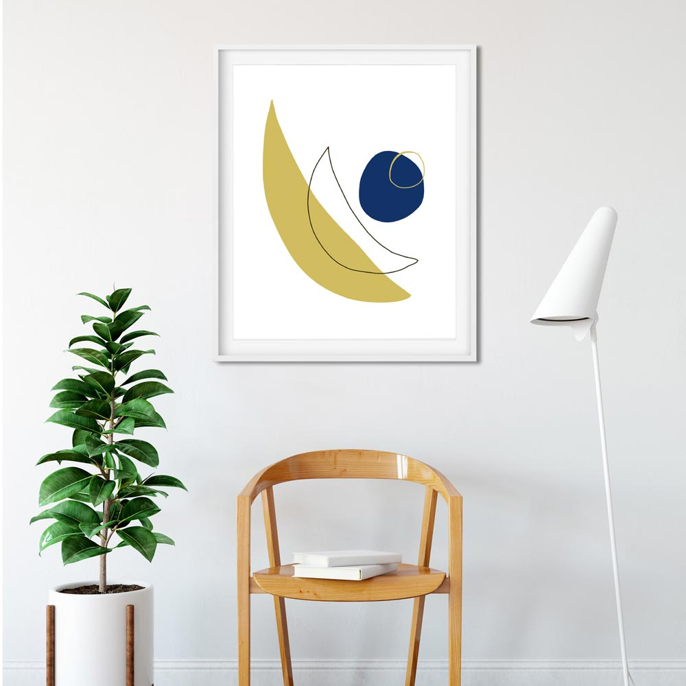 Modern moon abstract printable art