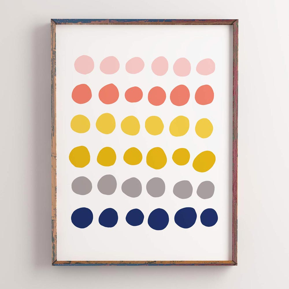 Colorful dots art wall