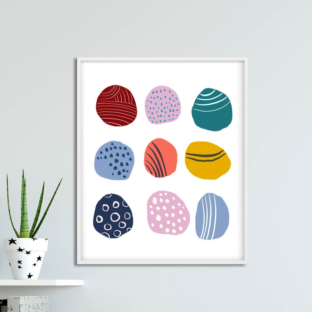 Play dots nursery printable art