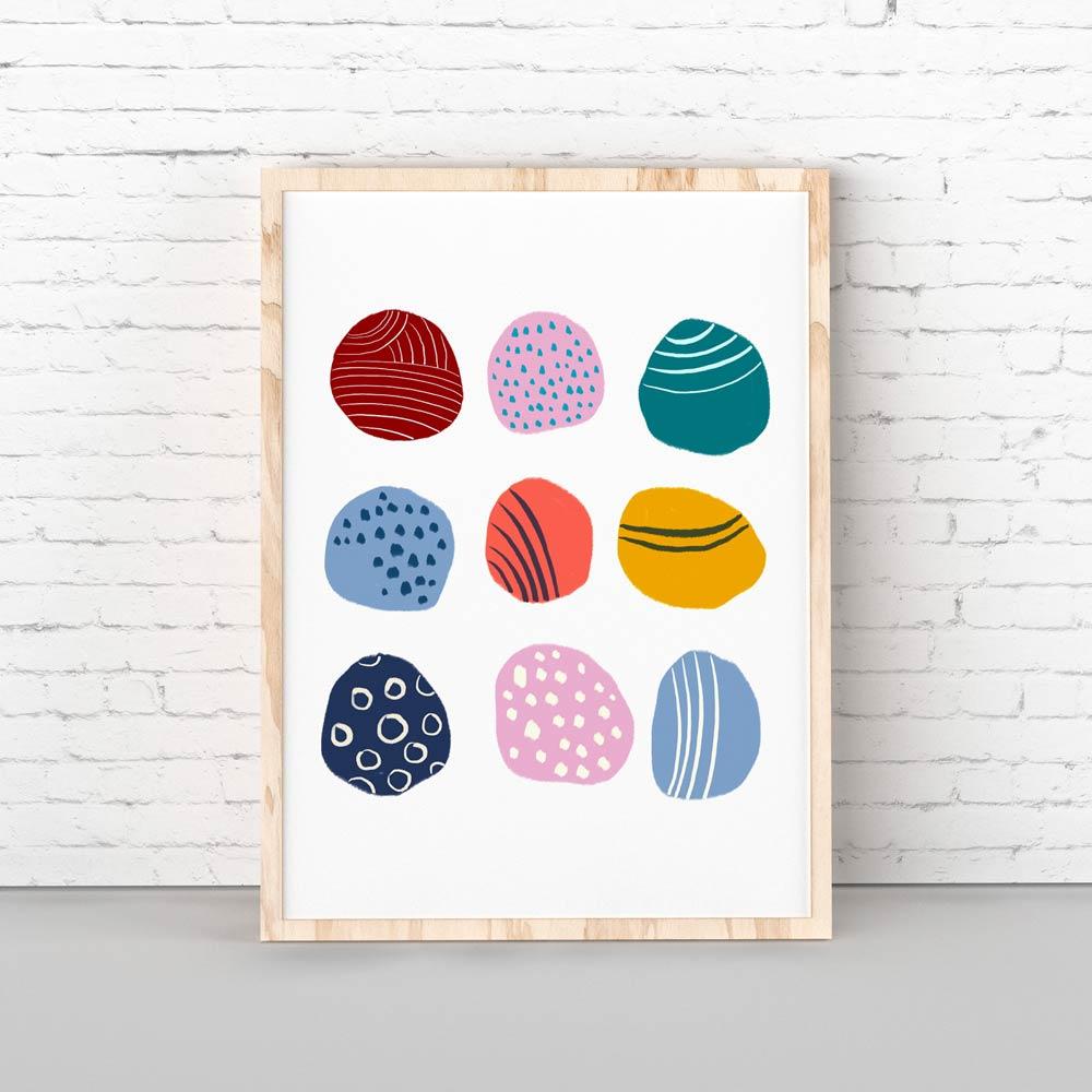 Play dots nursery printable wall art