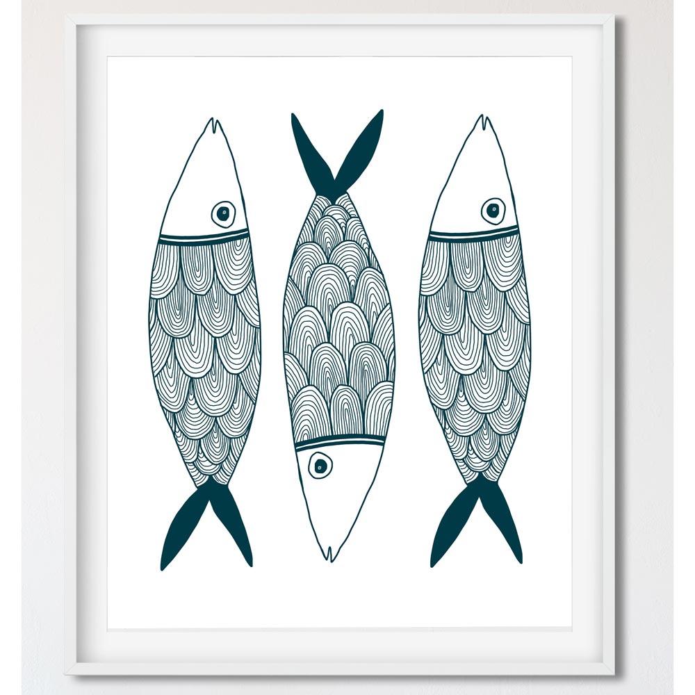 Nautical wall art in frame