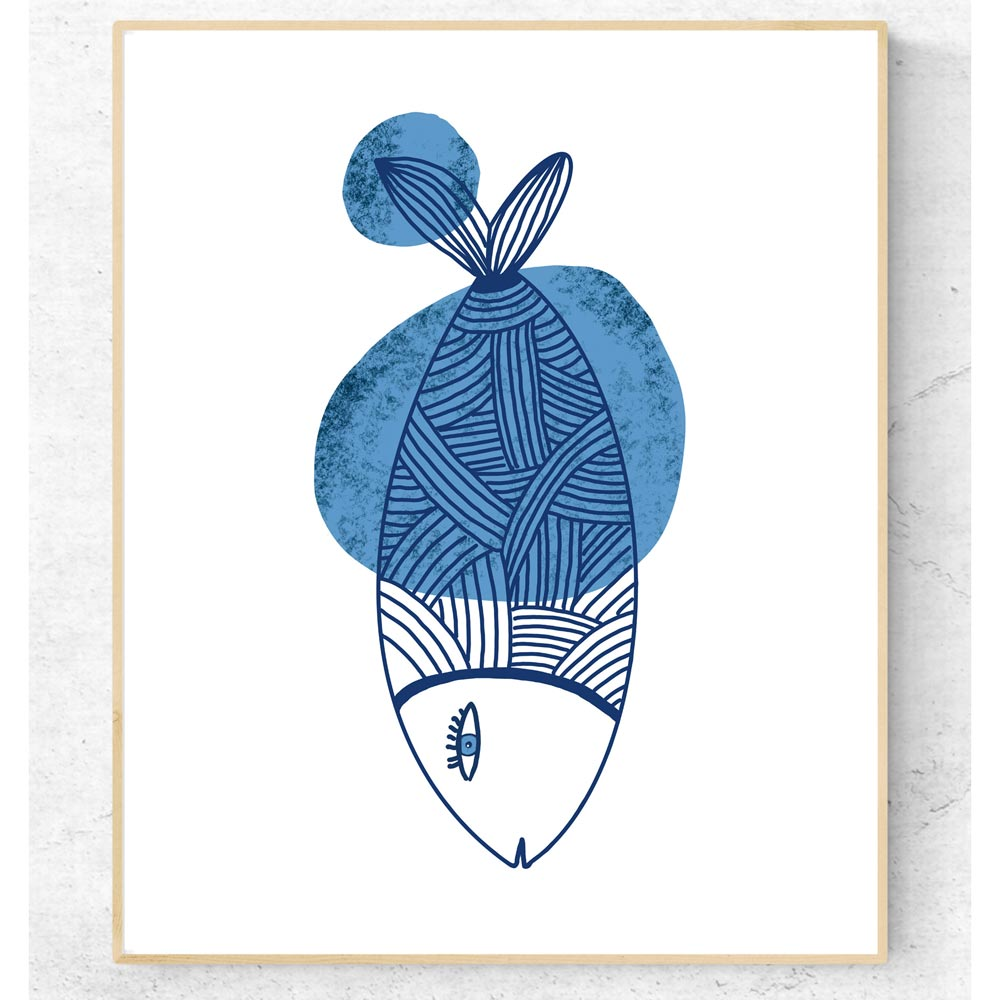Fish kids printable wall art