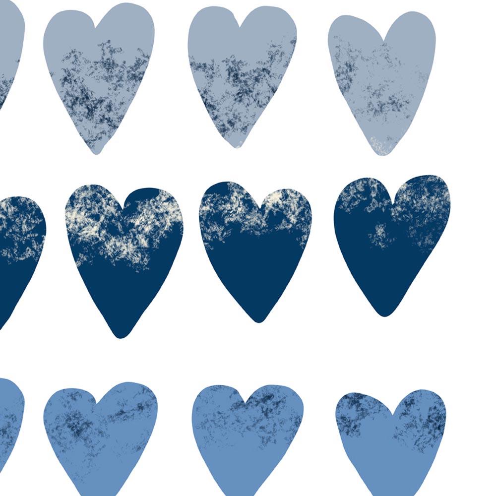 Hearts modern scandinavian wall decor detail