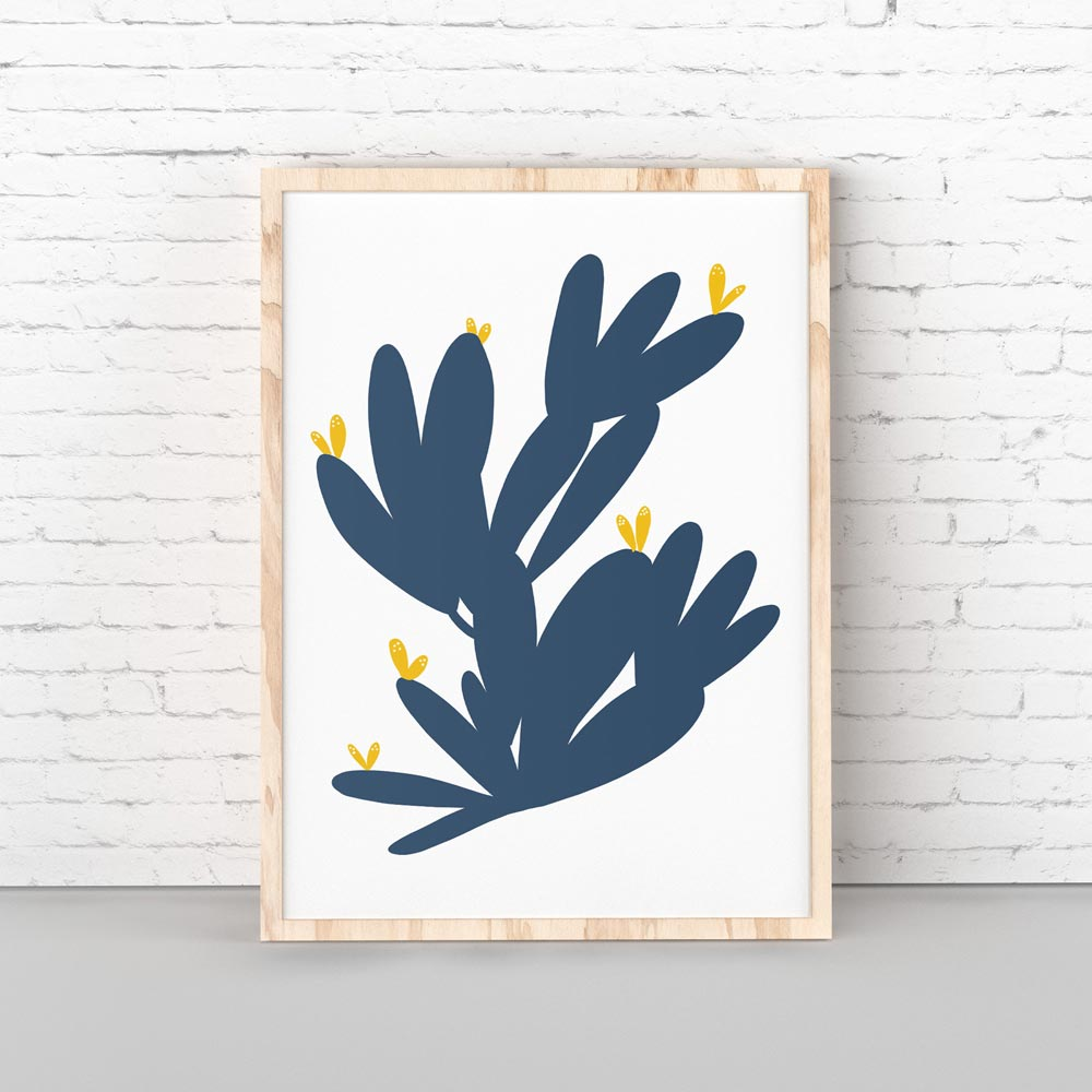 Cactus wall art decor