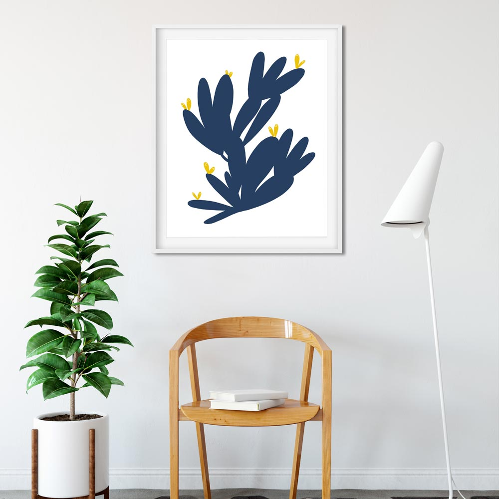 Cactus abstract wall art