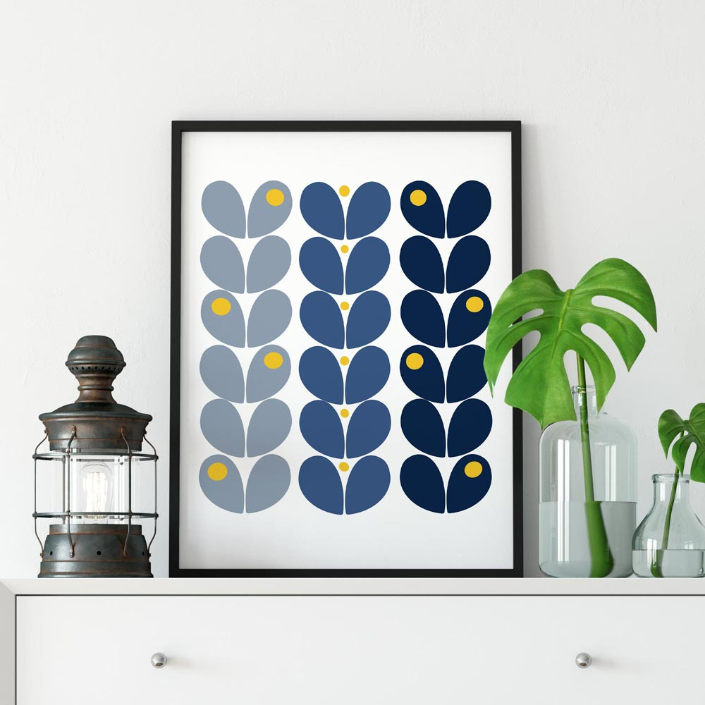 Scandi flowers printable wall art