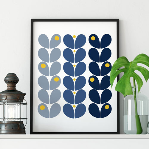 Retro scandinavian wall art