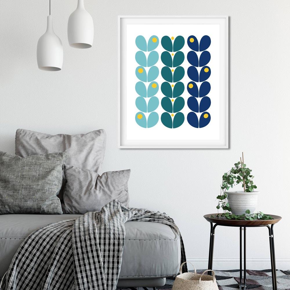 Black dots room poster