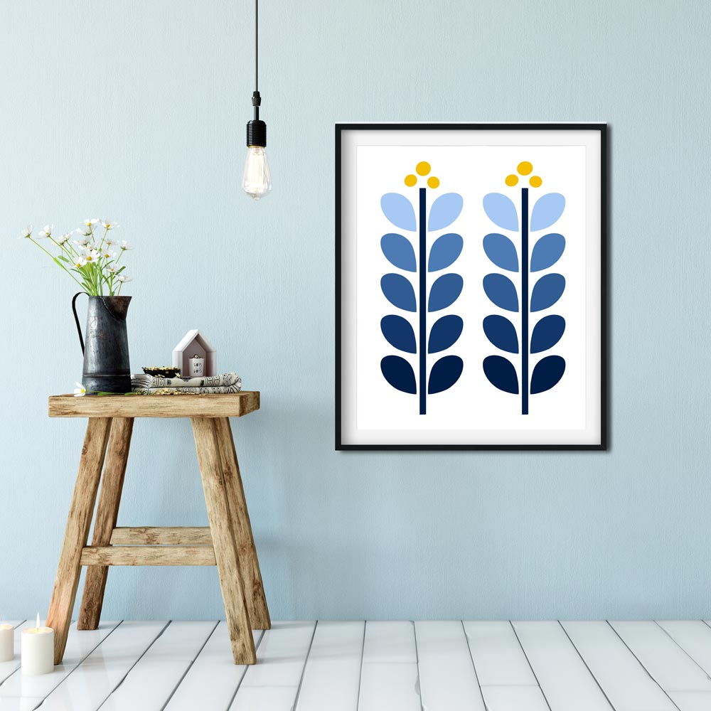 Scandinavian illustration printable wall art