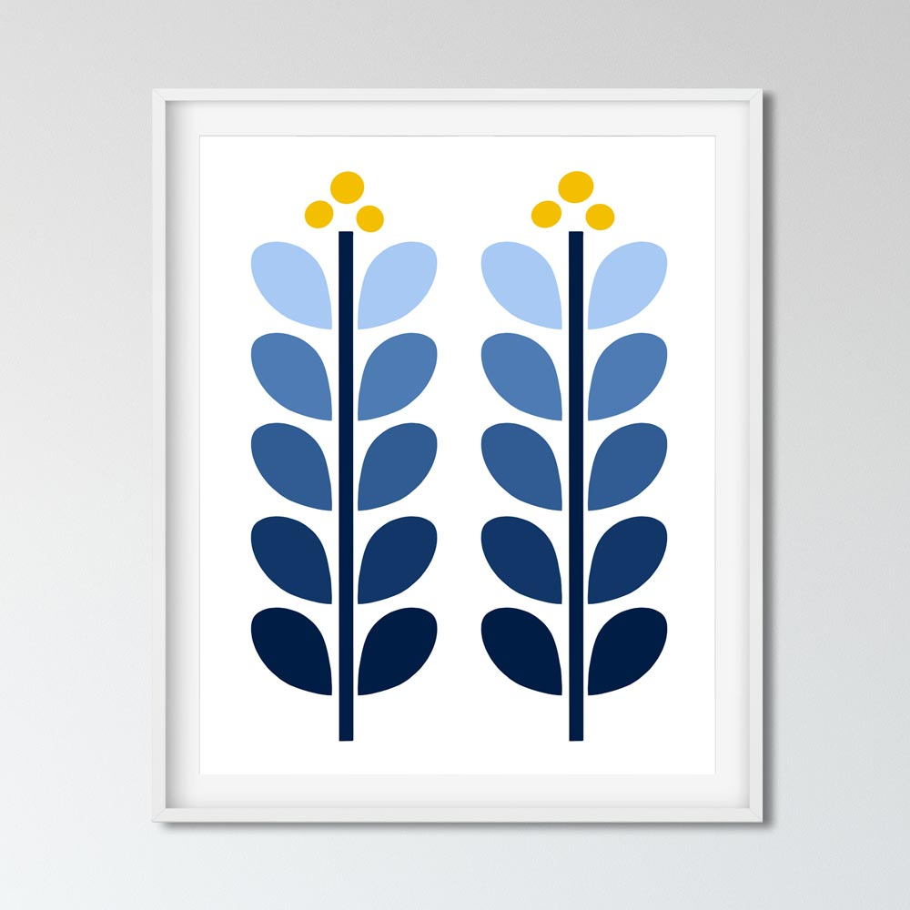 Scandinavian illustration wall decor