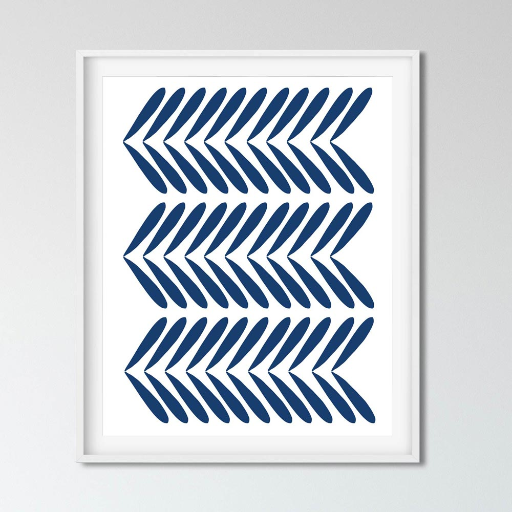 Indigo modernscandinavian wall decor detail