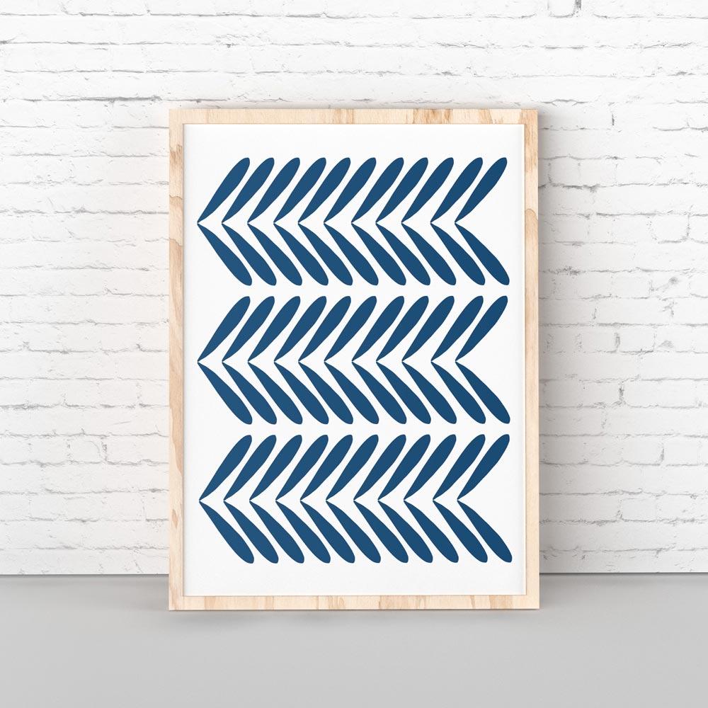 Indigo modern scandinavian printable art
