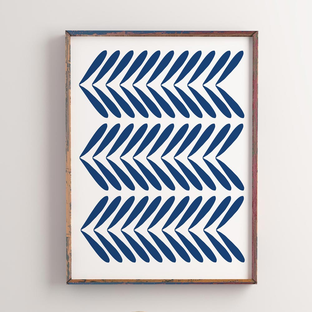 Indigo modern wall art