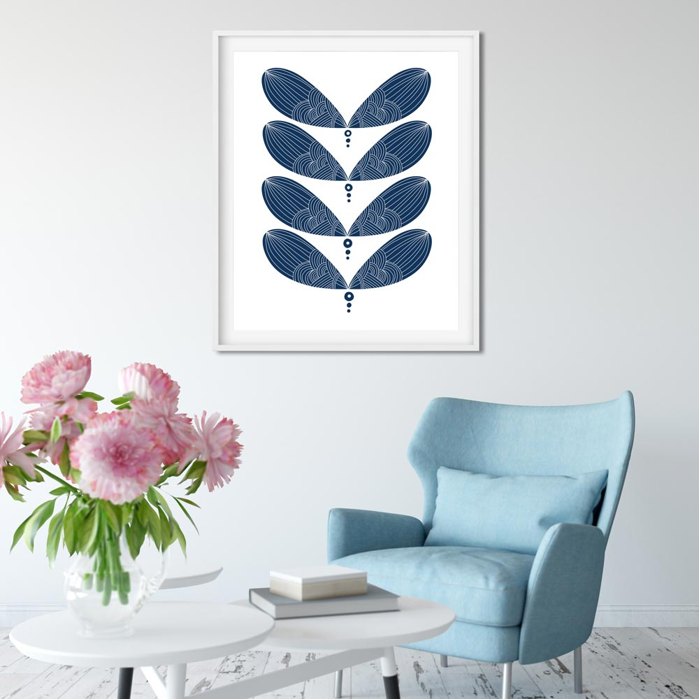 Scandinavian wall art in frame
