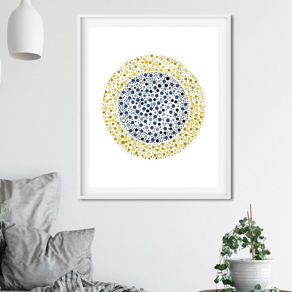 Golden circle wall decor