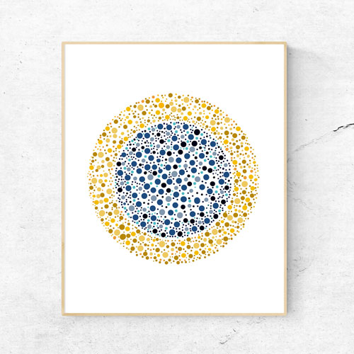 Dots mandala circle art