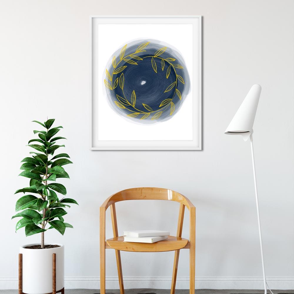 Scandinavian Round modern wall art
