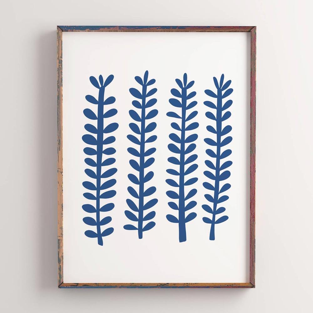 Scandinavian pattern art in frame