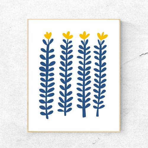 Scandi flowers illustration