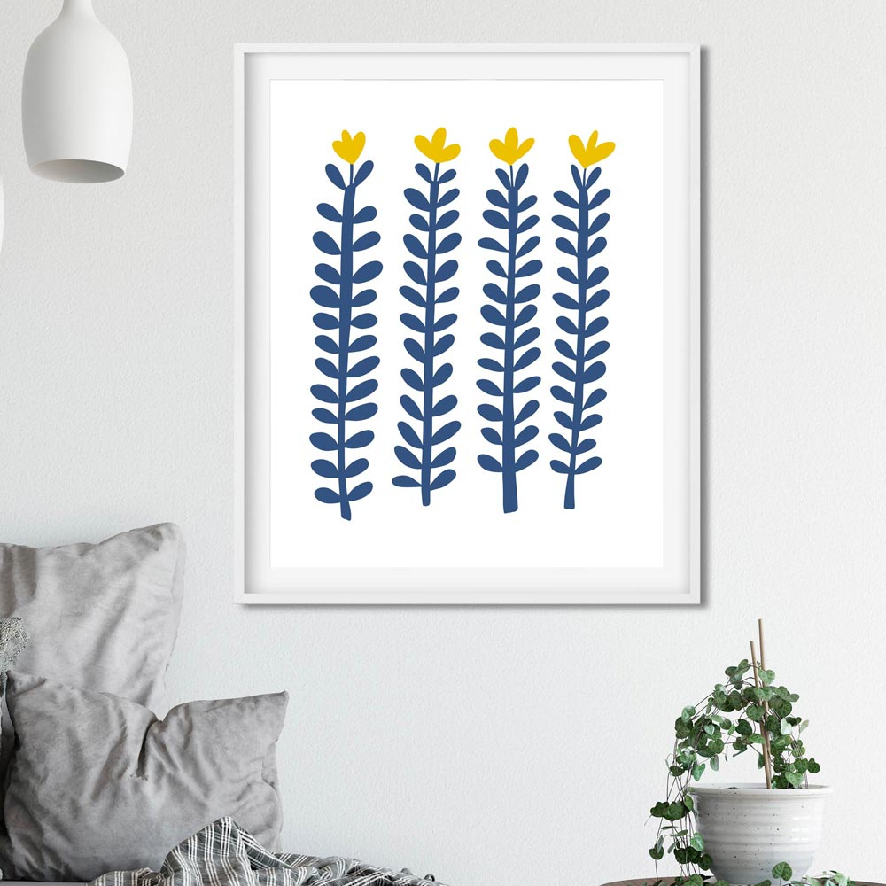 Scandi flowers printable wall art
