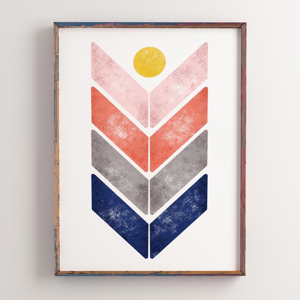 Kids room printable art wall in frame