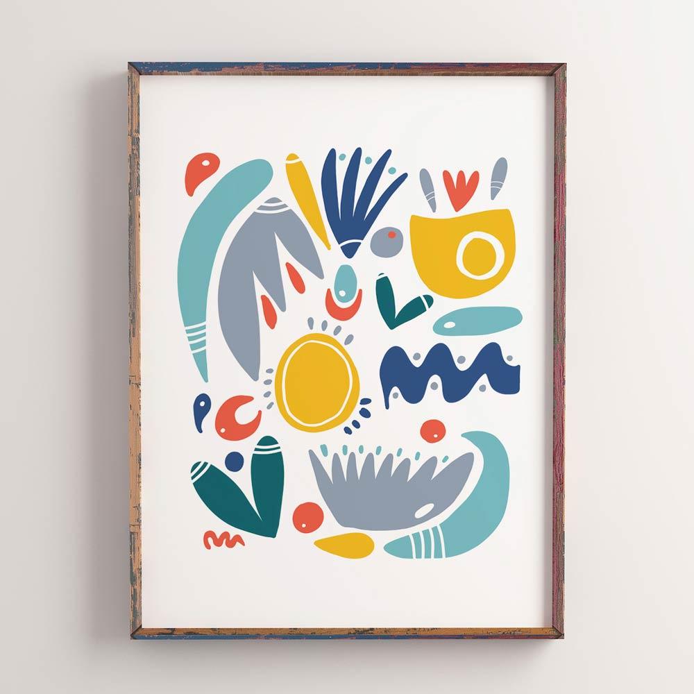 Shapes abstract wall art
