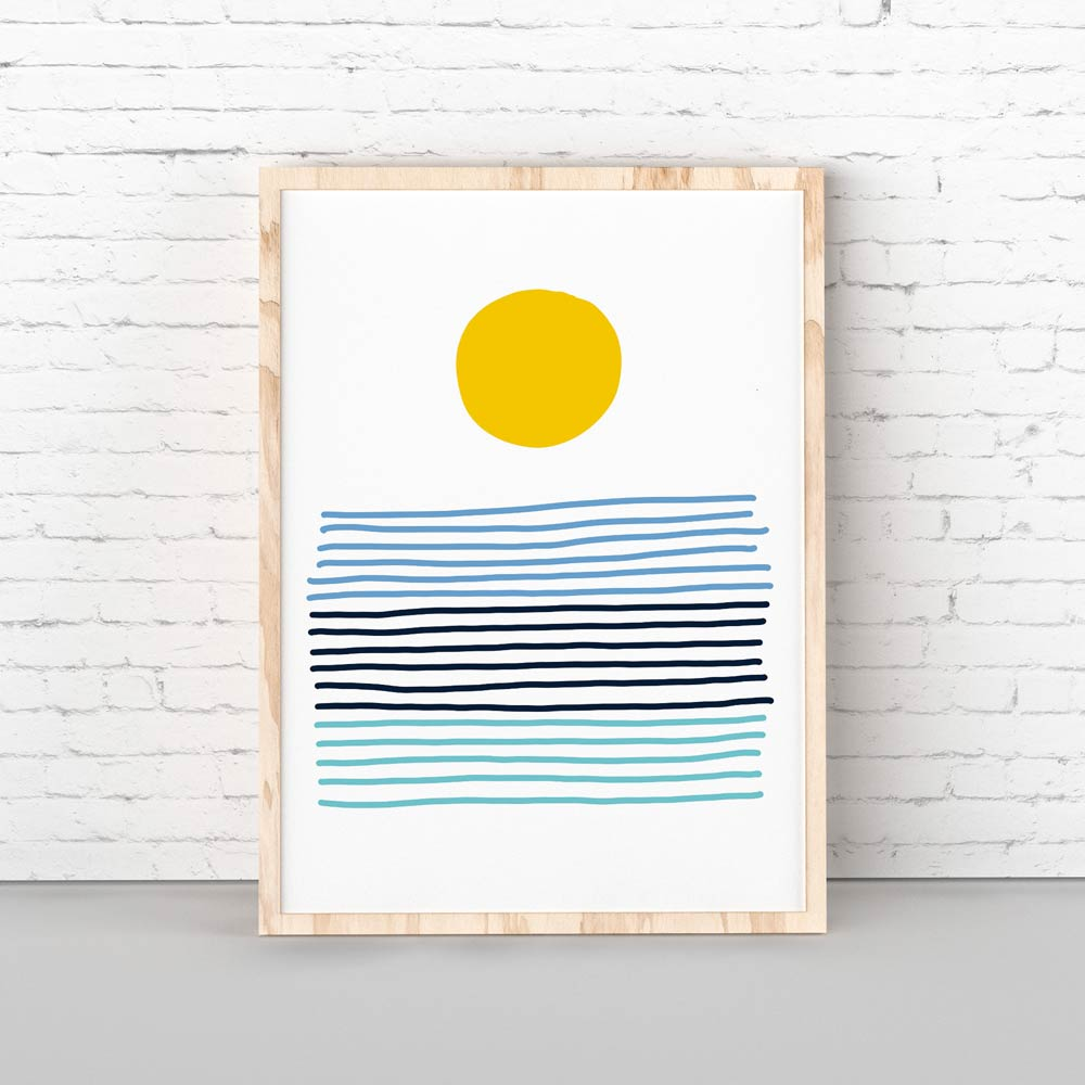 Sun abstract wall art