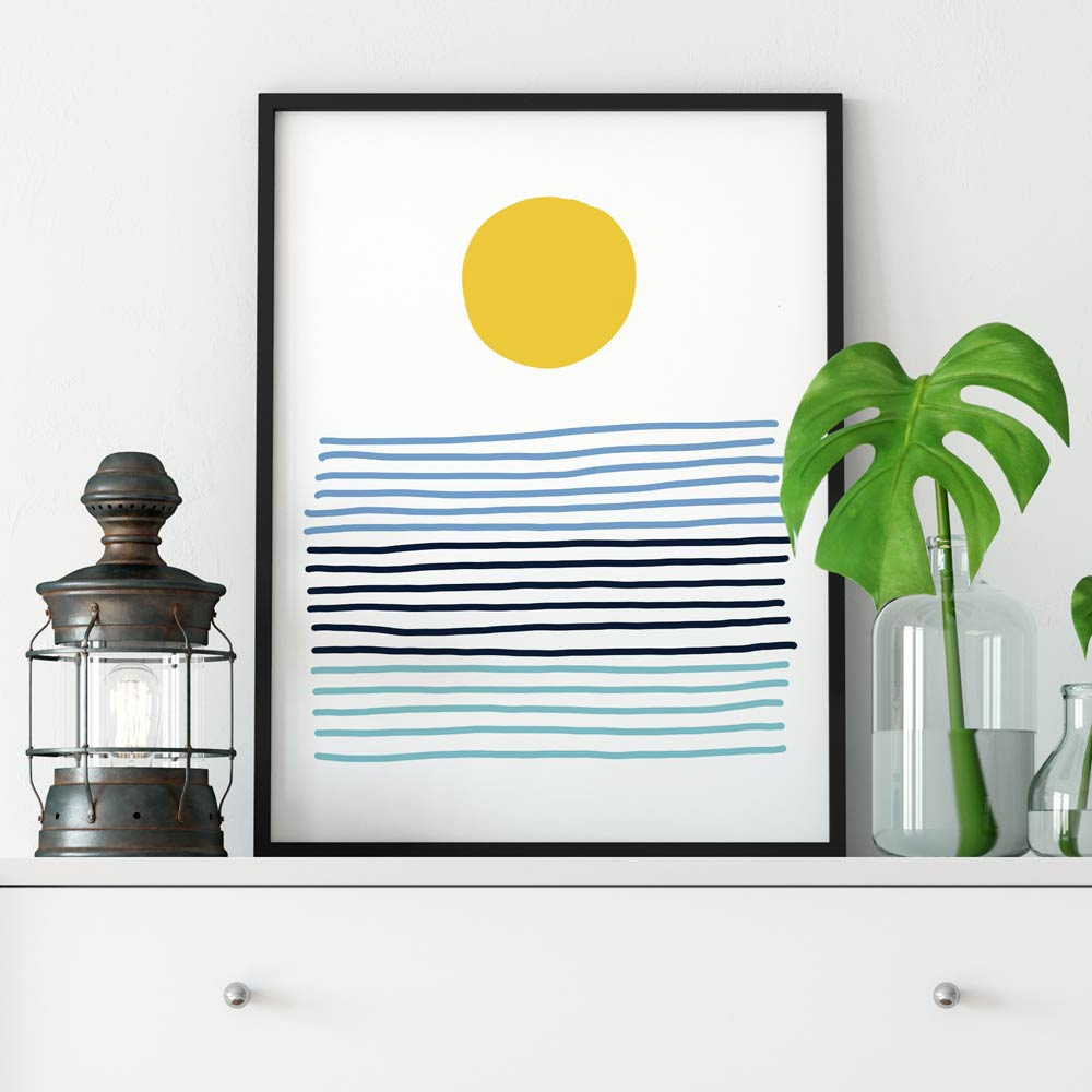 Sun abstract printable wall art