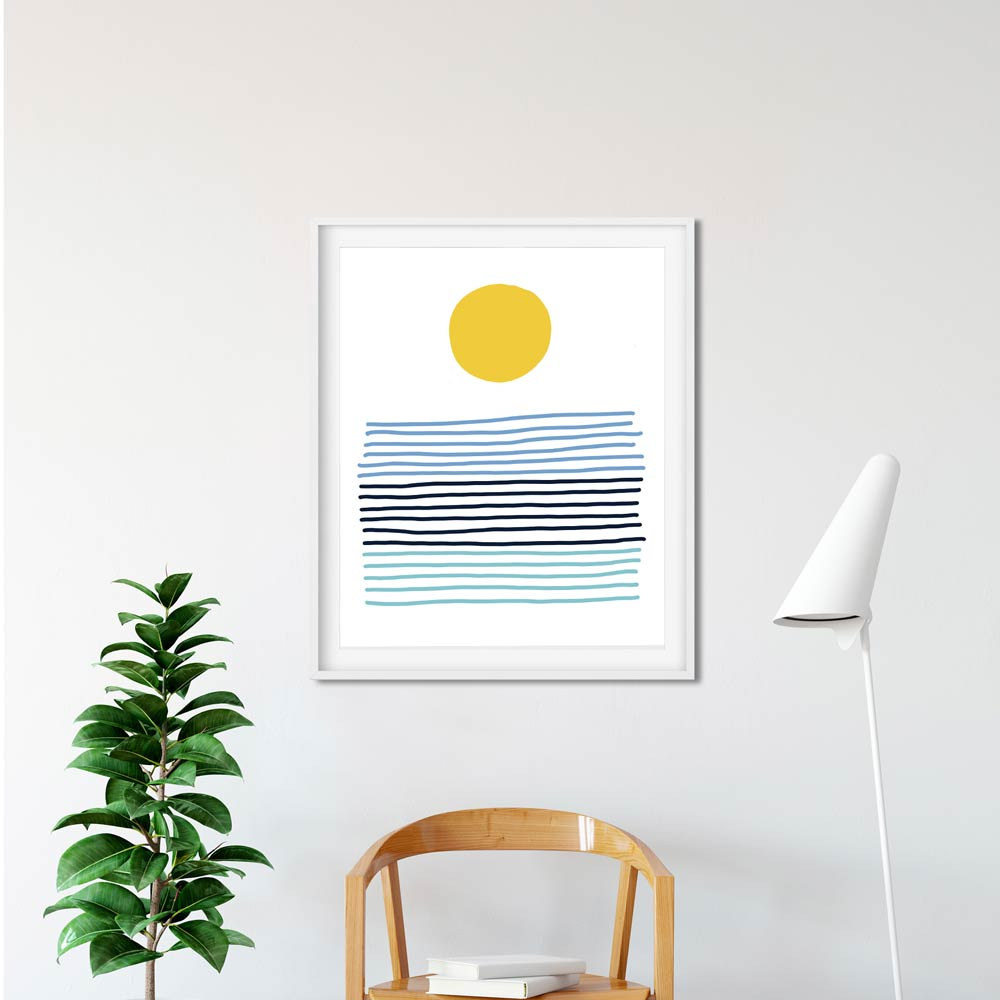 Sun printable art frame
