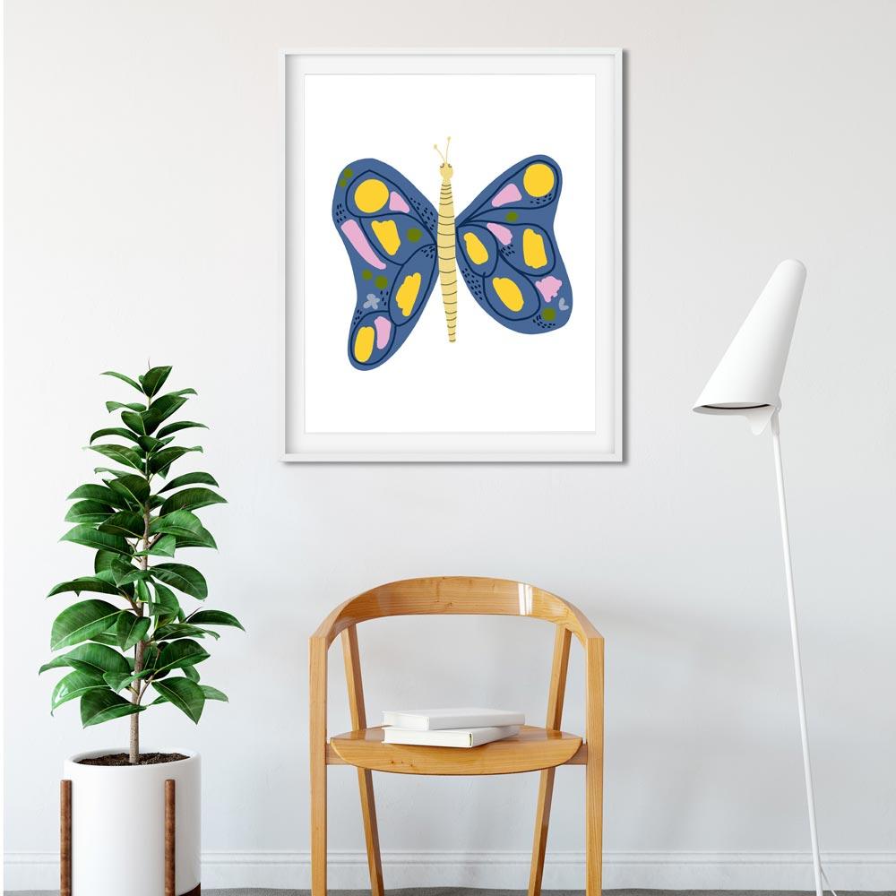 Butterfly kids wall art