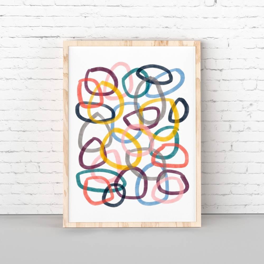 Circles kiids pritable art