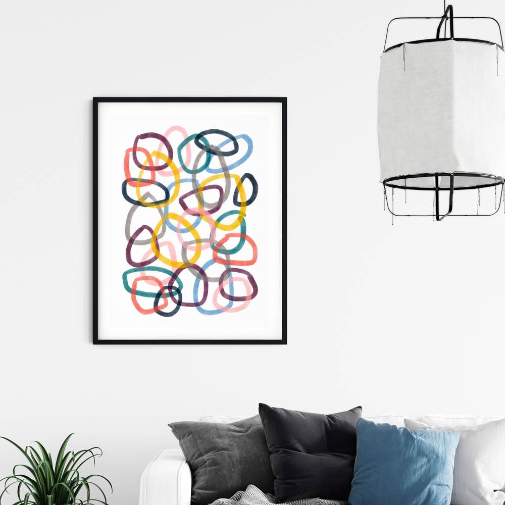 Circles wall art for kids