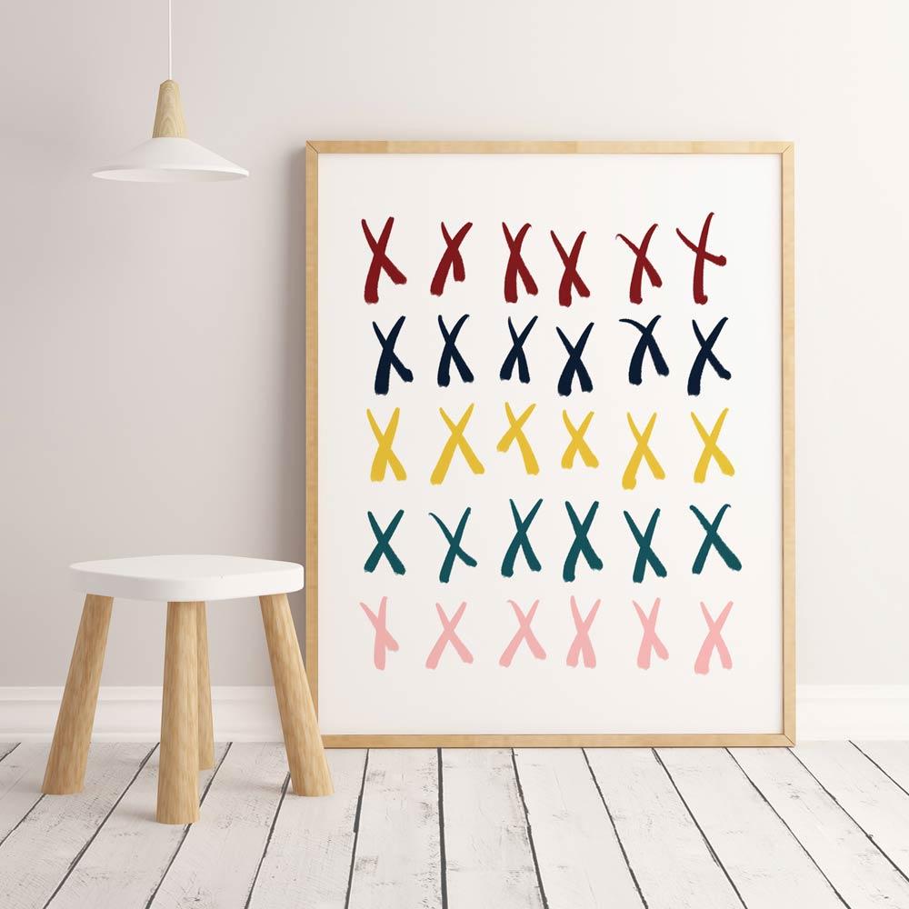 Crosses nursery printable wall art