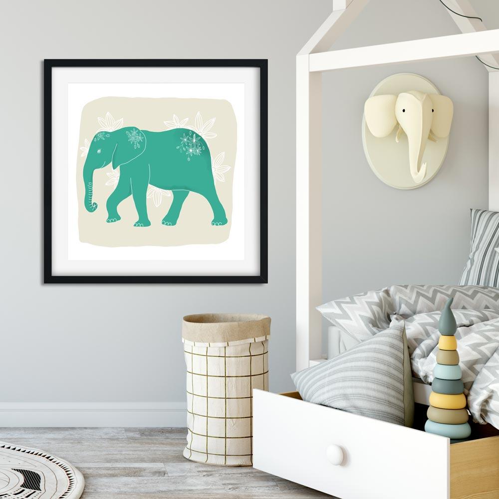 Elephant nursery printable wall art