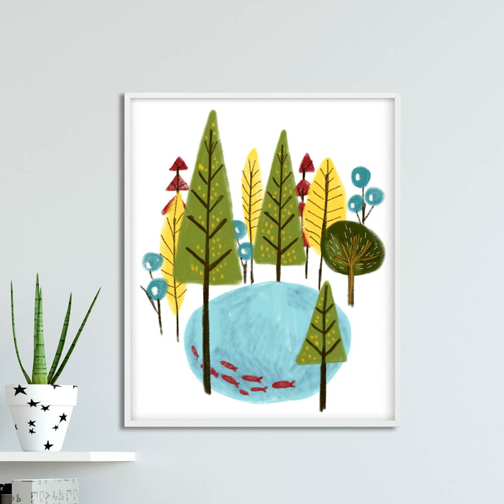 Woodland nursery printable wall art