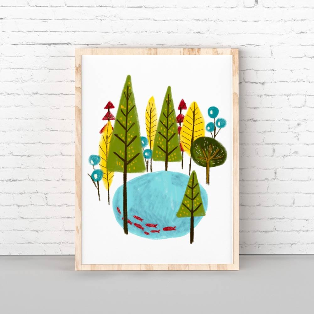 Woodland nursery printable art