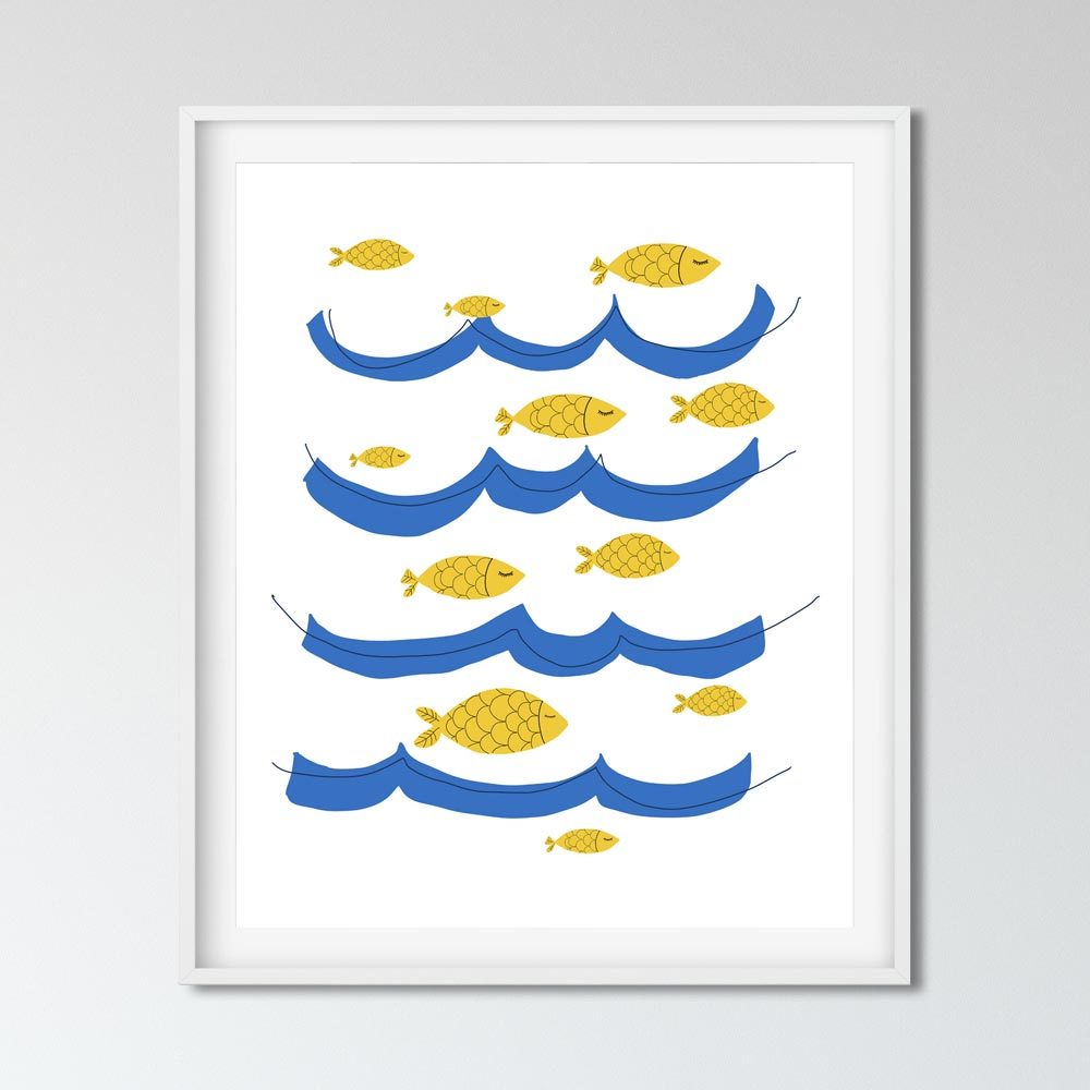 Ocean fish wall art