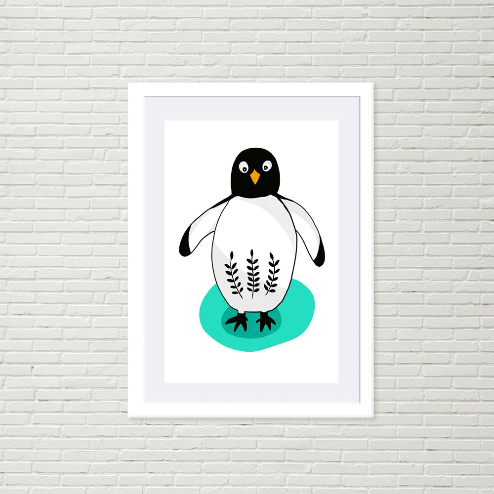 Penguin nursery wall art decor