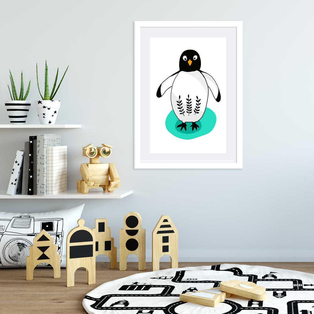 Penguin nursery printable wall art
