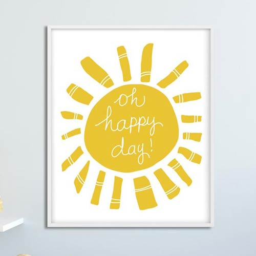 Oh happy day! Kids poster