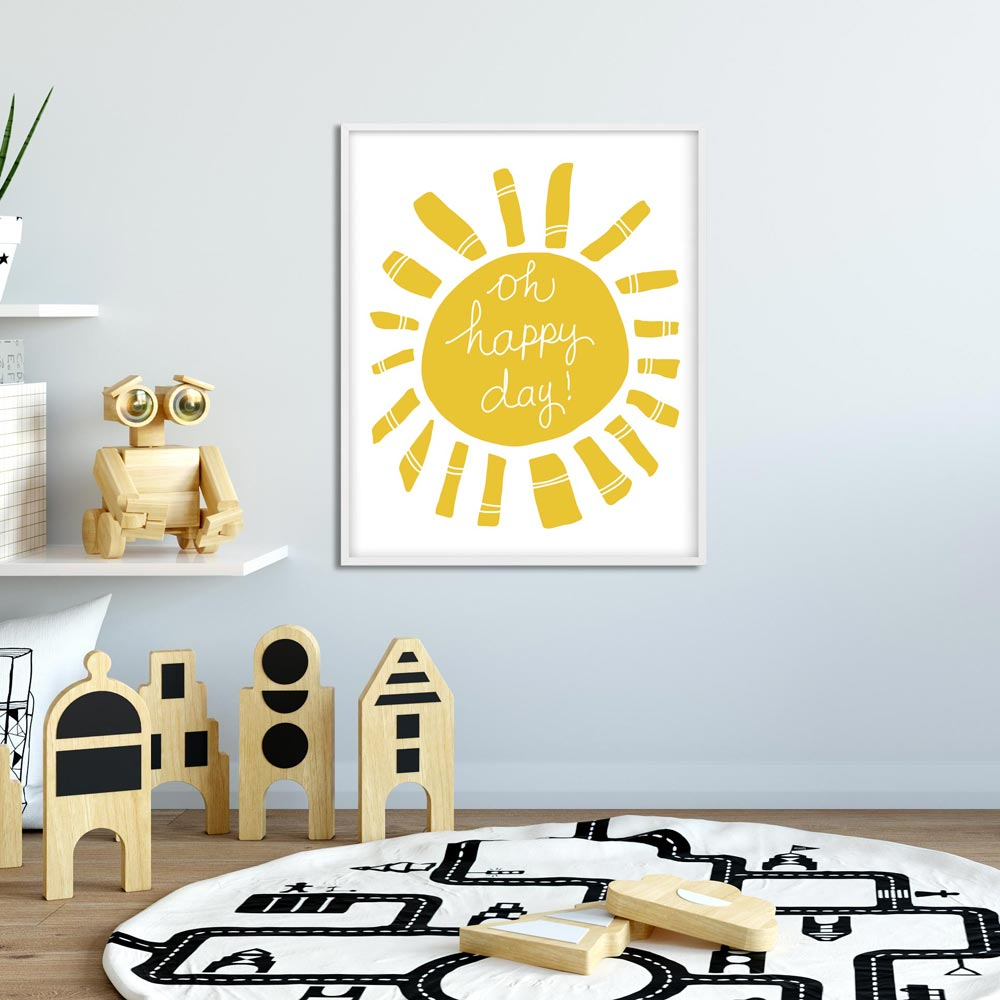 Oh happy day! Kids room poster