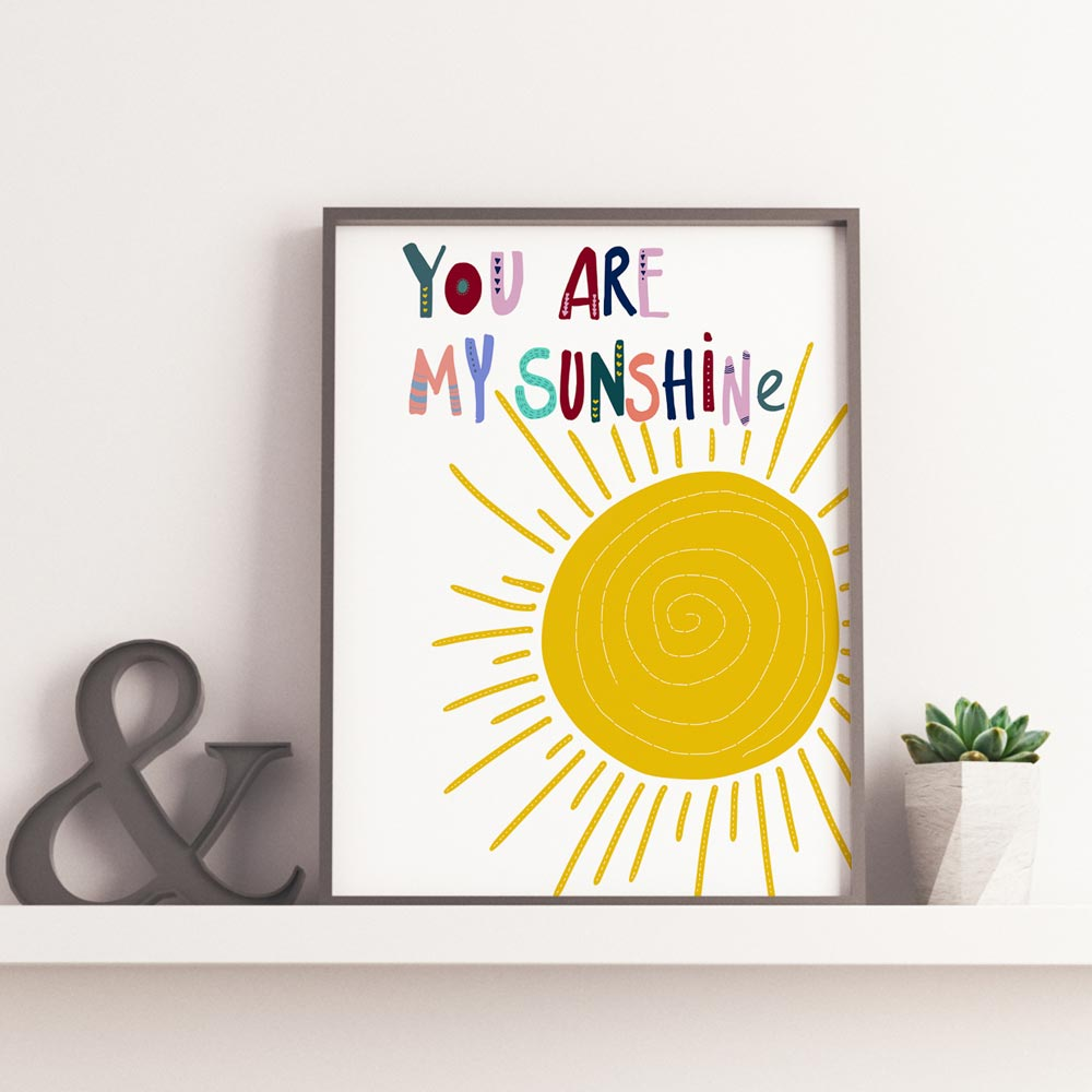 You are my sunshine nursery printable art