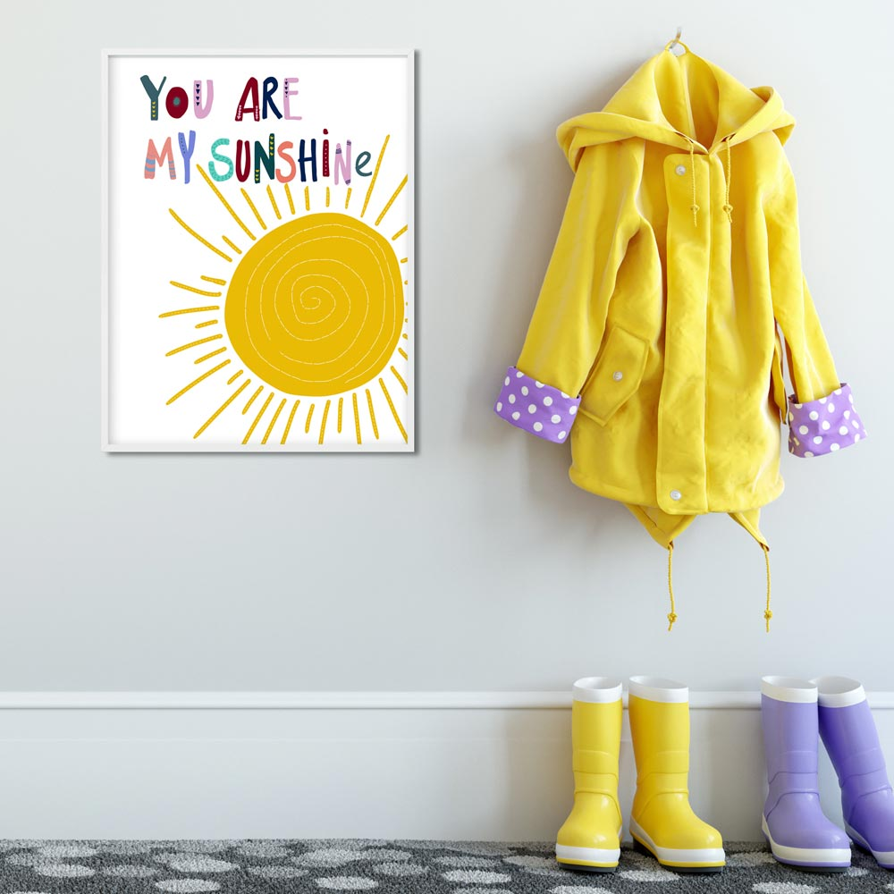 You are my sunshine kids art wall