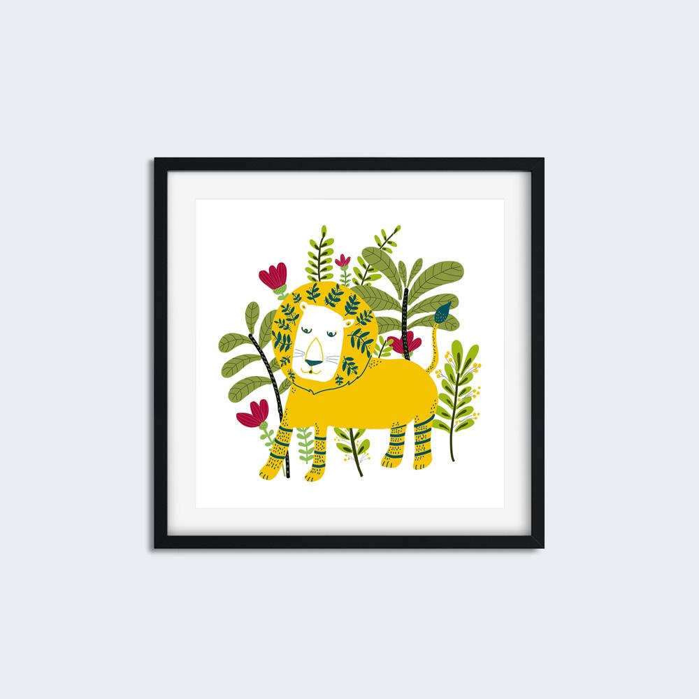 Yellow Lion nursery printable wall art